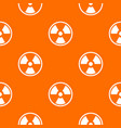 danger nuclear pattern seamless vector image vector image