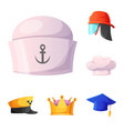 design of headgear and cap symbol set of vector image vector image