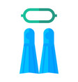 diving and snorkelling equipment vector image vector image