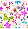 floral seamless grunge pattern vector image vector image