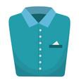 folded elegant shirt icon vector image