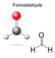 Formaldehyde model vector image vector image