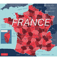 france country detailed editable map vector image vector image