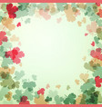 green and red leaves on bright background vector image