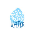 hand drawn signs of pure water drop shape logo vector image