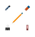 icon flat stationery set of pencil cutter vector image vector image