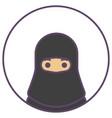 islam girl in hijab avatar black burqa icon vector image
