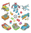 kids toys cartoon boyish games in playroom vector image vector image