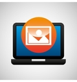 laptop icon image social media vector image vector image