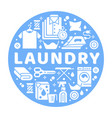 laundry service banner with flat vector image vector image