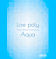low poly light blue abstract background vertical vector image vector image