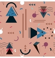 Memphis pattern of geometric shapes for tissue and vector image