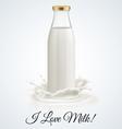 Milk bottle vector image vector image