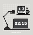 modern office workspace Flat minimalistic style vector image vector image