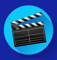 movie clapper board movie maker vector image