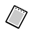 Notebook with spring simple icon vector image vector image