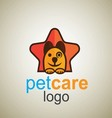 pet care logo 7 vector image vector image