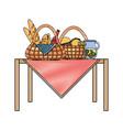 picnic baskets vector image vector image