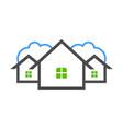 pleasant neighboor residence real estate logo vector image