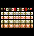 poker playing cards full deck and card vector image