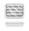 realistic template blank white sausage in vector image vector image