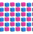 Seamless pink and blue Cubes vector image