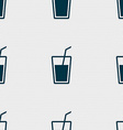 Soft drink icon sign Seamless pattern with vector image
