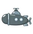 submarine sea icon cartoon style vector image