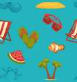 summer bright seamless pattern of seasonal vector image