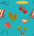 summer bright seamless pattern seasonal vector image vector image