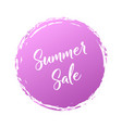 summer sale handwritten word with color circle vector image vector image