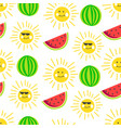 summertime summer holidays fruits and characters vector image vector image