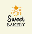 sweet bakery logotype template vector image vector image