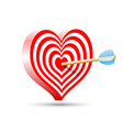 target in the form of heart and arrow vector image vector image