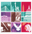 traditional symbols usa vector image vector image