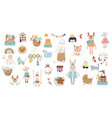 trendy baby and children icons stickers tattoos vector image