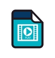 video movie format type media vector image