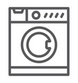 washing machine line icon electronic household vector image