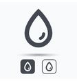 Water drop icon Natural aqua sign vector image vector image
