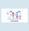 web site design template two businessman vector image