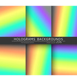Set 6 realistic holographic backgrounds in vector image