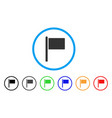flag pointer rounded icon vector image