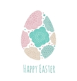 Greeting card Easter egg with pattern vector image