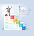 5 steps to business win concept vector image vector image