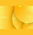 abstract background yellow color circles vector image
