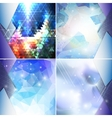 Abstract blue backgrounds set triangle design vector image