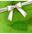 abstract green watercolor background with white vector image