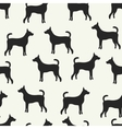 Animal seamless pattern of dog silhouettes vector image