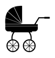 Baby carriage simple icon vector image