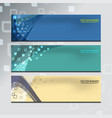 banner of web design vector image vector image